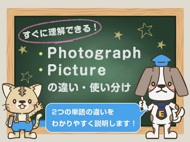 photographとpicttureの違い