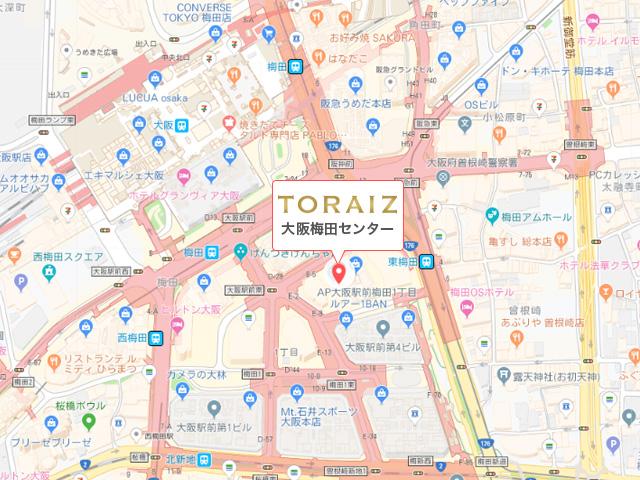 トライズ 梅田センターの地図